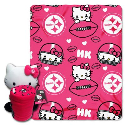 NFL Pittsburgh Steelers & Hello Kitty Hugger and Throw Blanket Set by The Northwest