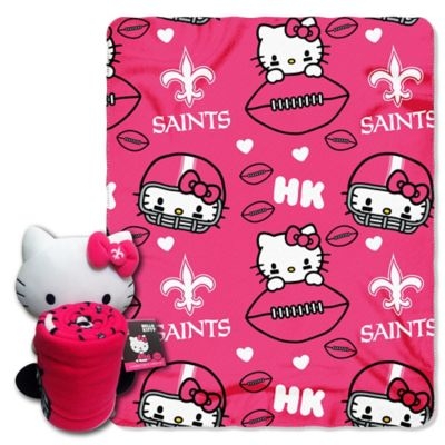 NFL New Orleans Saints & Hello Kitty Hugger and Throw Blanket Set by The Northwest