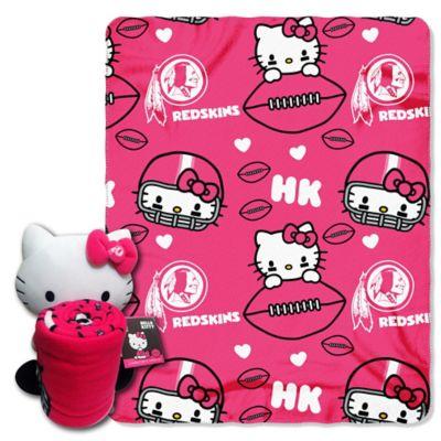 NFL Washington Redskins & Hello Kitty Hugger and Throw Blanket Set by The Northwest