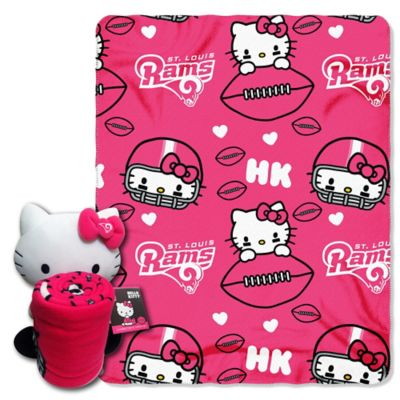 NFL St. Louis Rams & Hello Kitty Hugger and Throw Blanket Set by The Northwest