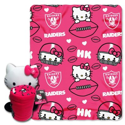 NFL Oakland Raiders & Hello Kitty Hugger and Throw Blanket Set by The Northwest