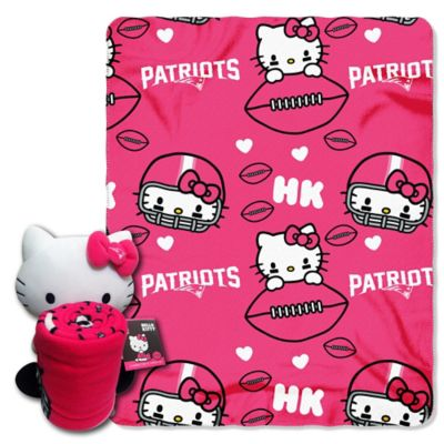 NFL New England Patriots & Hello Kitty Hugger and Throw Blanket Set by The Northwest