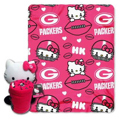 NFL Green Bay Packers & Hello Kitty Hugger and Throw Blanket Set by The Northwest