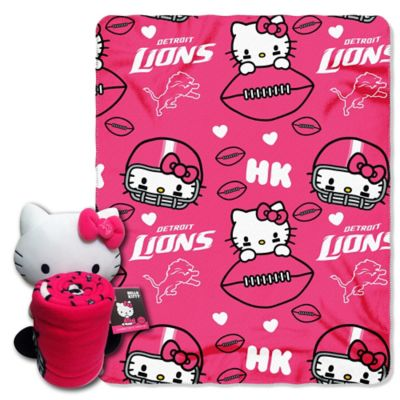 NFL Detroit Lions & Hello Kitty Hugger and Throw Blanket Set by The Northwest