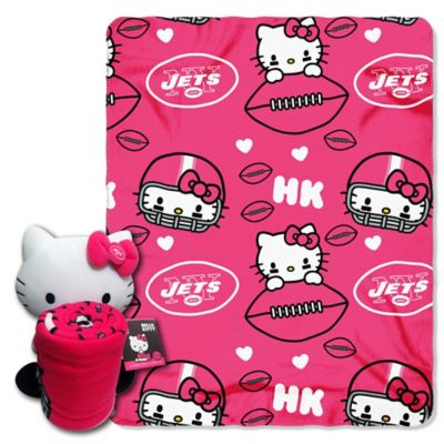 NFL New York Jets & Hello Kitty Hugger and Throw Blanket Set by The Northwest