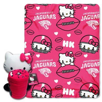 NFL Jacksonville Jaguars & Hello Kitty Hugger and Throw Blanket Set by The Northwest
