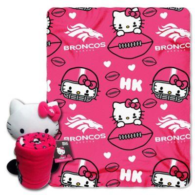 NFL Denver Broncos & Hello Kitty Hugger and Throw Blanket Set by The Northwest