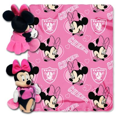 NFL Oakland Raiders & Minnie Hugger and Throw Blanket Set by The Northwest