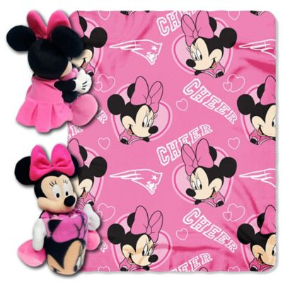 NFL New England Patriots & Minnie Hugger and Throw Blanket Set by The Northwest