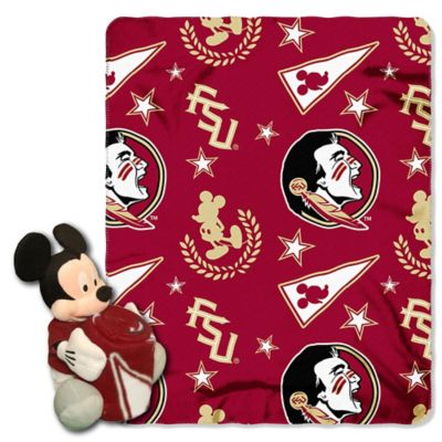 Florida State University & Mickey Hugger and Throw Blanket Set by The Northwest