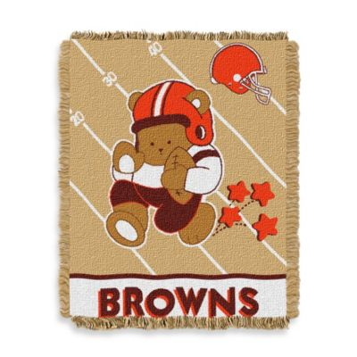 NFL Cleveland Browns Woven Jacquard Baby Blanket/Throw
