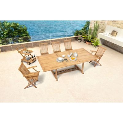 Zuo® Regatta Outdoor Extension Dining Table with Natural Finish