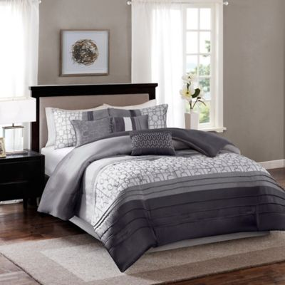 Madison Park Bradford 7-Piece King Comforter Set in Grey