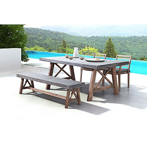 Zuo Ford Dining Table In Cement Natural Bed Bath Beyond