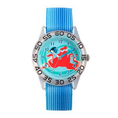 Disney® Finding Dory Children's 32mm Hank Time Teacher Watch in Clear Plastic w/Blue Nylon Strap