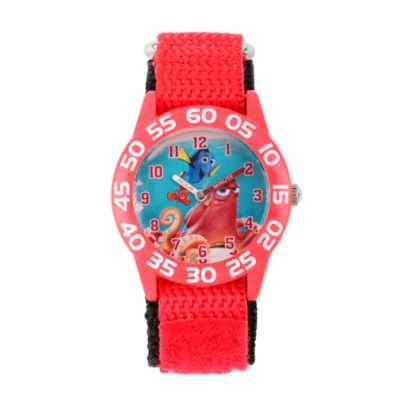 Disney® Finding Dory Children's 32mm Hank Time Teacher Watch in Red Plastic w/Red Nylon Strap