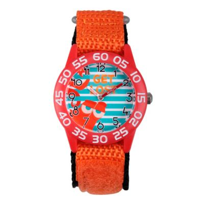 Disney® Finding Dory Children's 32mm Get Lost Time Teacher Watch in Red Plastic w/Nylon Strap