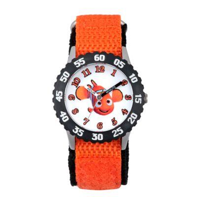Disney® Finding Dory Children's 32mm Nemo Time Teacher Watch in Black Plastic w/Nylon Strap