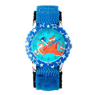 Disney® Finding Dory Children's 32mm Stars Time Teacher Watch in Blue Plastic w/Blue Nylon Strap