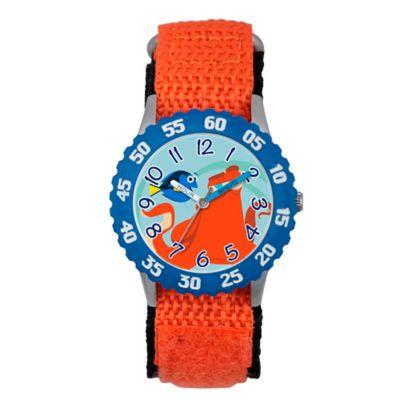 Disney® Finding Dory Children's 32mm Time Teacher Watch in Blue Plastic w/Orange Nylon Strap