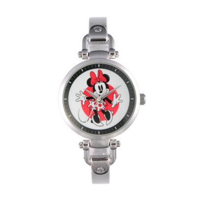 Disney® Minnie Mouse Ladies' 32mm Dancing Bridle Watch in Silvertone Alloy