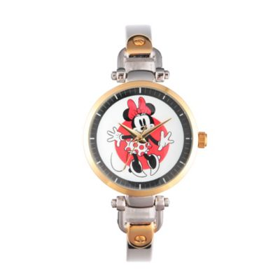 Disney® Minnie Mouse Ladies' 32mm Dancing Bridle Watch in Two-Tone Alloy
