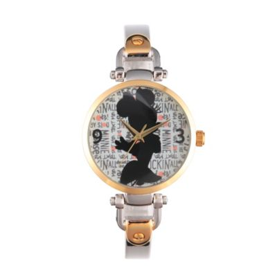 Disney® Minnie Mouse Ladies' 32mm Silhouette Bridle Watch in Two-Tone Alloy