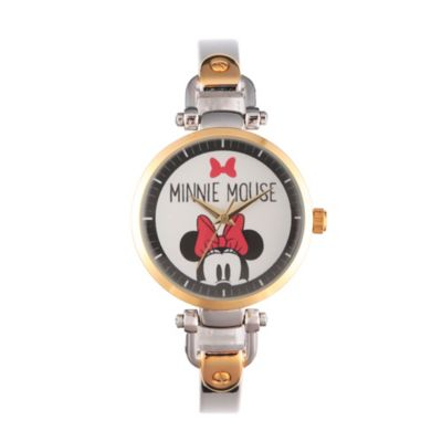 Disney® Minnie Mouse Ladies' 32mm Peek-A-Boo Bridle Watch in Two-Tone Alloy