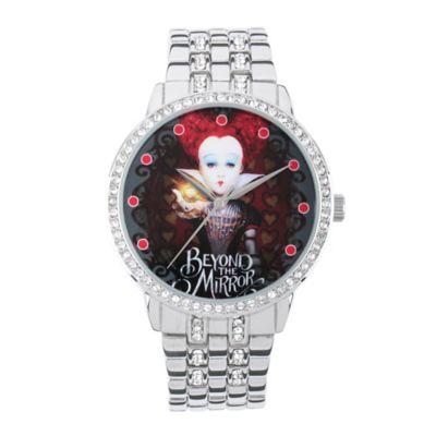 Disney® Alice in Wonderland Ladies' 40mm Crystal-Accented Red Queen Watch in Silvertone