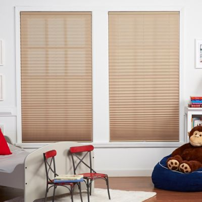 Baby Blinds Cordless Pleat 68-Inch x 72-Inch Shade in Macadamia