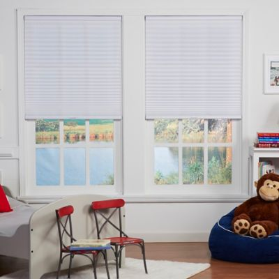 Baby Blinds Cordless Pleat 61-1/2-Inch x 72-Inch Shade in Pearl White