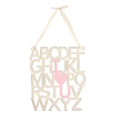 Mud Pie® I Love You Sign in Pink