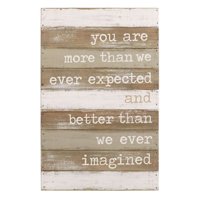 """Mud Pie® """"Better Than We Imagined"""" Wood Plank Wall Art"""
