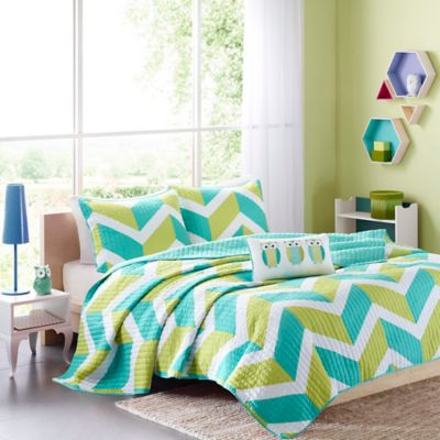 Mi Zone Billie 2-Piece Twin/Twin XL Coverlet Set in Green