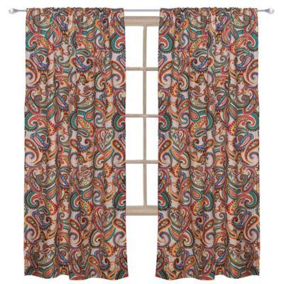 Paisley Window Panel Curtains