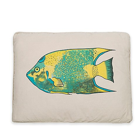 Buy levtex home calypso fish throw pillow from bed bath for Fish throw pillows