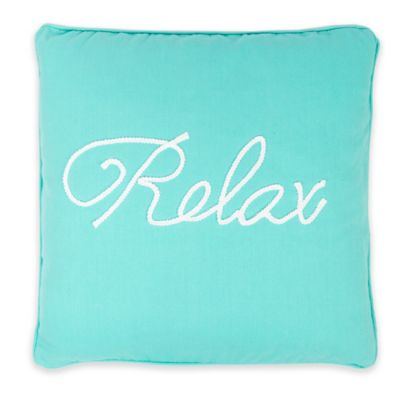 "Levtex Home Cozumel ""Relax"" Square Throw Pillow"