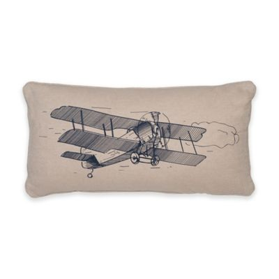 Levtex Home Oliver Airplane Oblong Throw Pillow