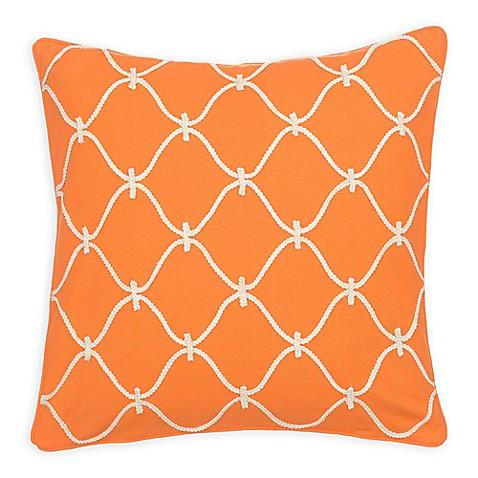 Levtex Home Serendipity Orange Rope Square Throw Pillow - www.BedBathandBeyond.com