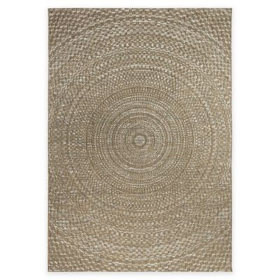 Orian Breeze Collection 7-Foot 7-Inch x 10-Foot 10-Inch Cerulean Area Rug in Arctic Blue