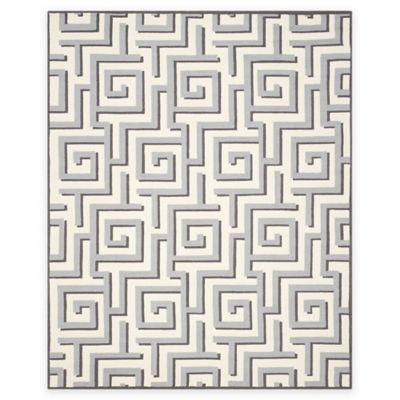 Safavieh Four Seasons Greek Key 8-Foot x 10-Foot Indoor/Outdoor Area Rug in Ivory/Grey