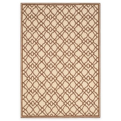 Safavieh Four Seasons Trellis Indoor/Outdoor Area Rug in Ivory/Dark Brown