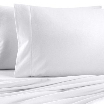 Collections Standard Flannel Pillowcases in White