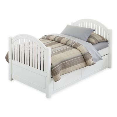 NE Kids Lake House Adrian Twin Bed with Trundle in White