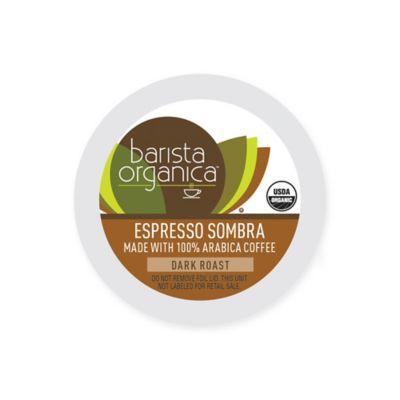 32-Count Barista Organica® Espresso Sombra Coffee Pods for Single Serve Coffee Makers