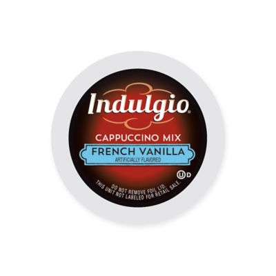 42-Count Indulgio® French Vanilla Cappuccino Mix Pods for Single Serve Coffee Makers