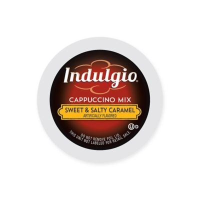 42-Count Indulgio® Sweet & Salty Caramel Cappuccino Mix Pods for Single Serve Coffee Makers