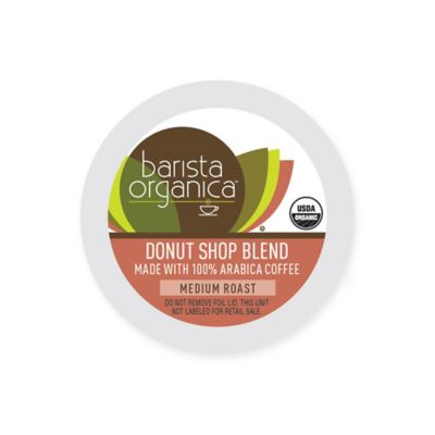 32-Count Barista Organica® Donut Shop Blend Coffee Pods for Single Serve Coffee Makers
