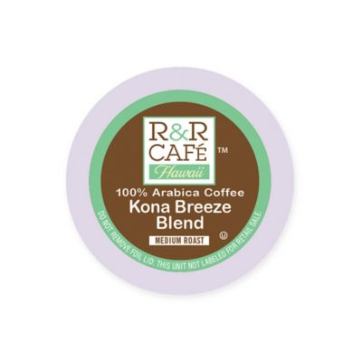 32-Count R&R Café Hawaii Kona Breeze Blend Coffee Pods for Single Serve Coffee Makers
