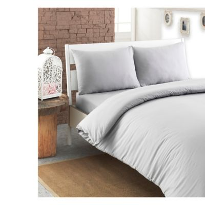 Linum Home Textiles Pera King Duvet Cover in Soft White